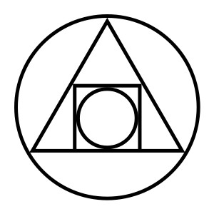 The squared circle, an alchemical symbol of the philosopher's stone.