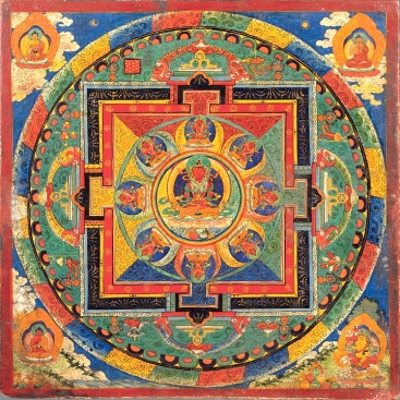 A Tibetan Buddhist mandala. (Source unknown.)