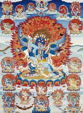 Vajrakilaya, a yidam or meditational deity in Tibetan Buddhism.