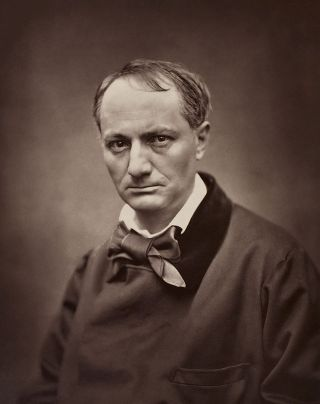 Baudelaire, circa 1862. Portrait by Étienne Carjat. (From Wikimedia.)