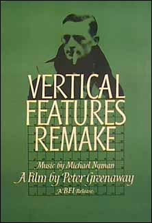 Poster for Greenaway's Vertical Features Remake (1978). (n.d.; artist unknown.) (From FilmAffinity.)