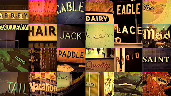Alphabetic stills from Frampton's Zorns Lemma.