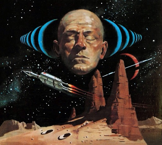 Cover art for Eric Frank Russel's Sentinels from Space, by Vincent Di Fate.